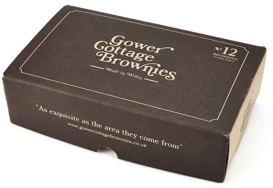 Rhubarb Crumble & Custard Gower Cottage Brownies