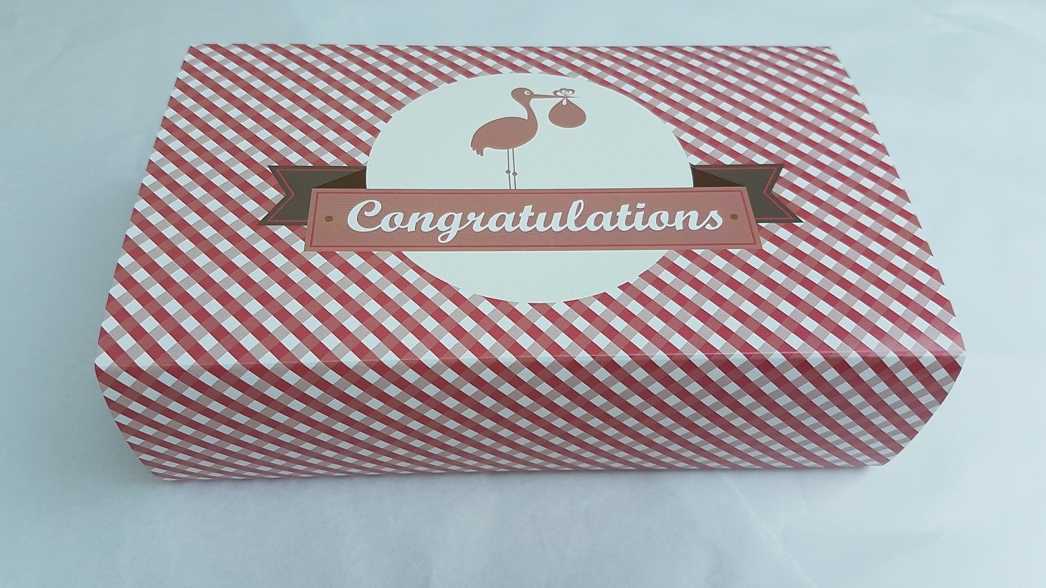 Congratulations New Baby (Pink) Gower Cottage Brownies