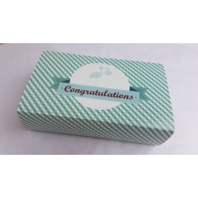 Congratulations New Baby (Blue) Gower Cottage Brownies