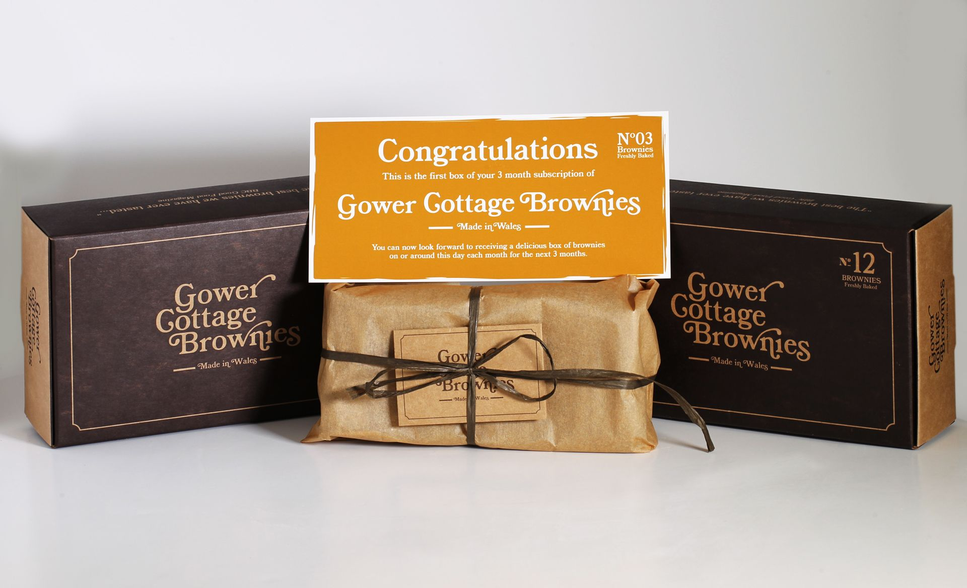 Variety 3 month Subscription Gower Cottage Brownies