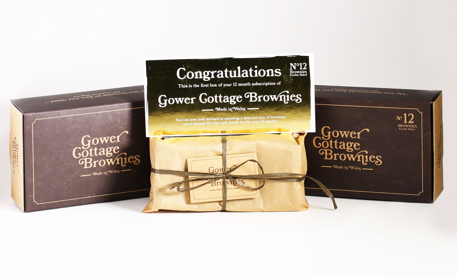 Gower Cottage Brownies (12 Month Subscription)