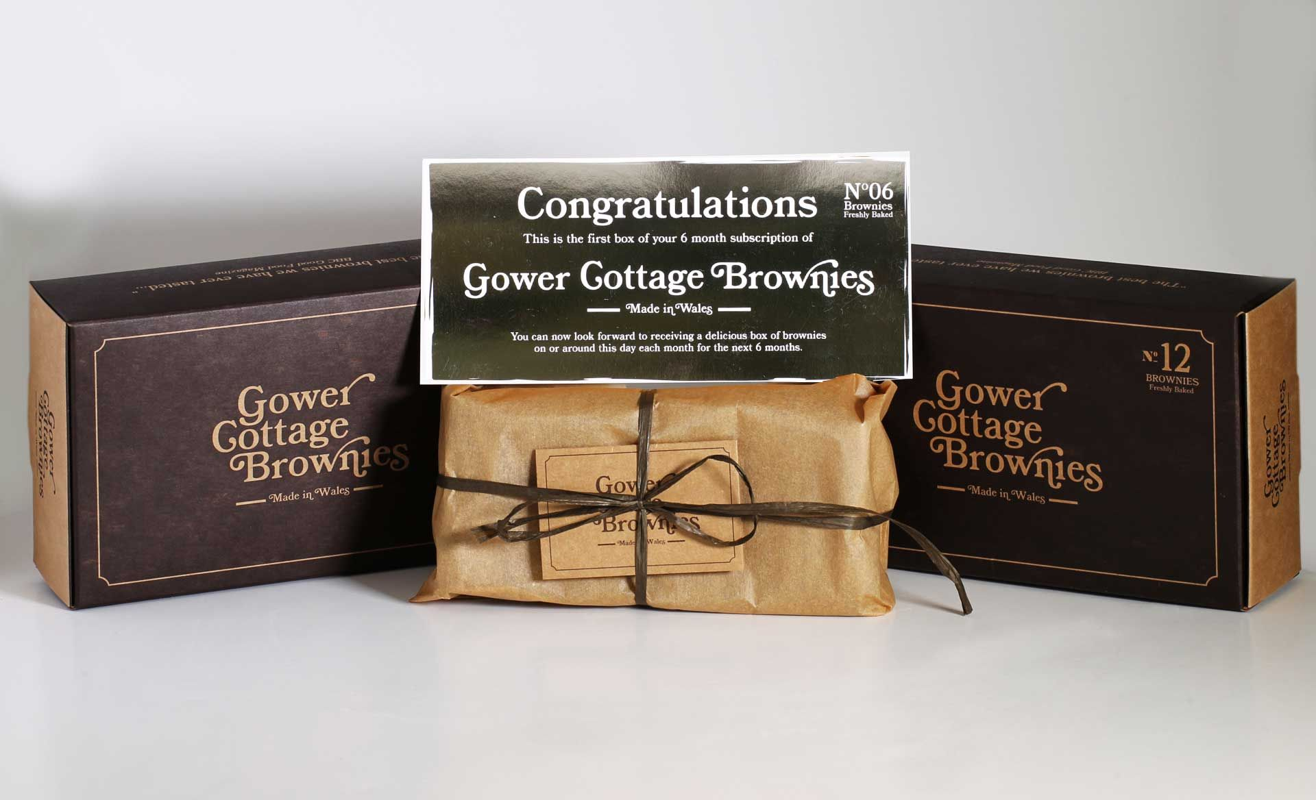 Chocolate Orange Gower Cottage Brownies (6 Month Subscription)