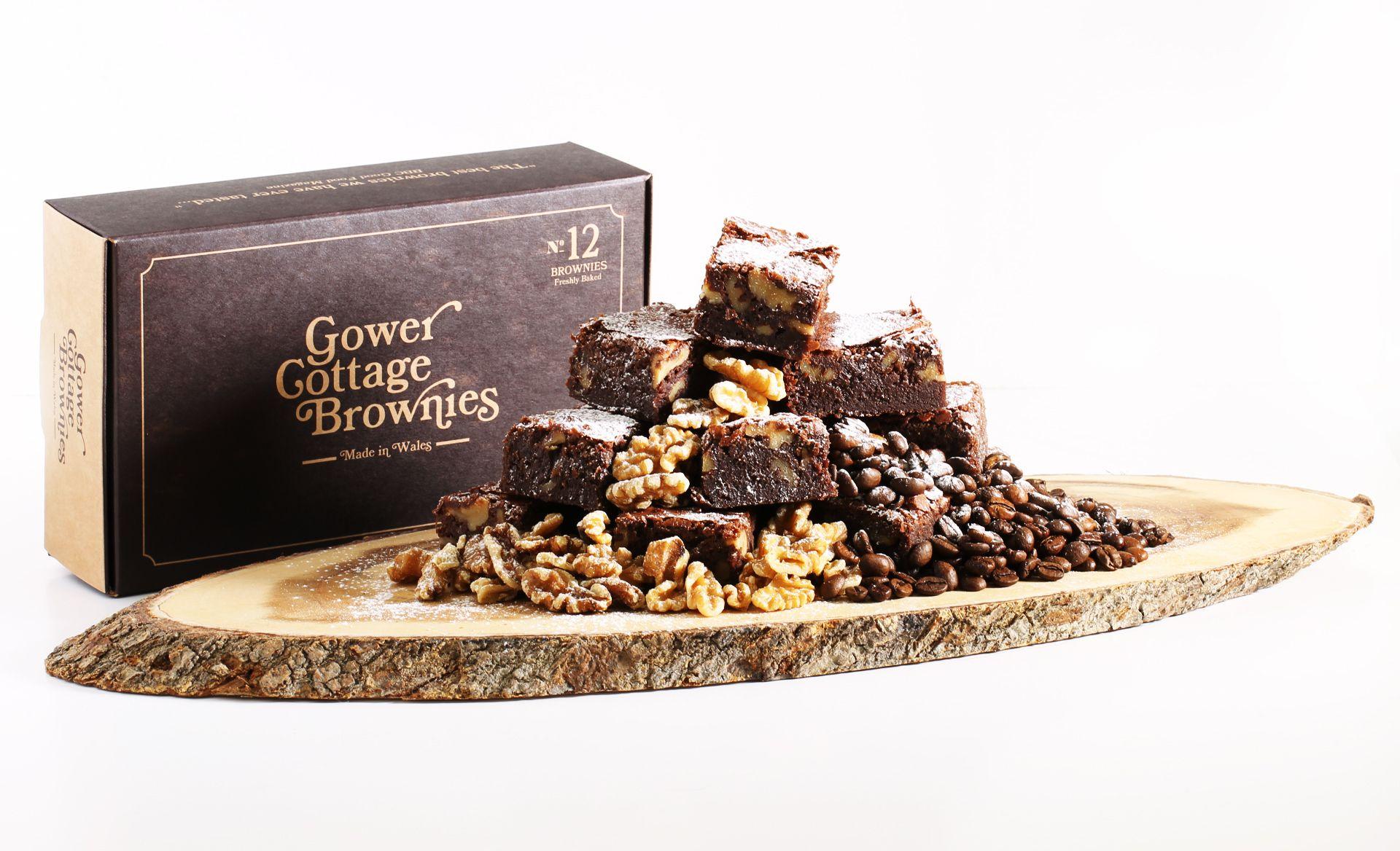 Coffee & Walnut Gower Cottage Brownies