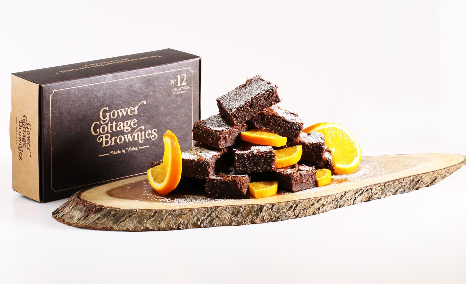 Chocolate Orange Gower Cottage Brownies