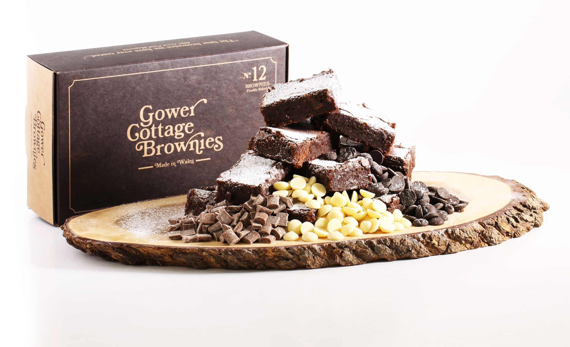 Triple Chocolate Gower Cottage Brownies