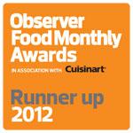 Observer award Runner Up